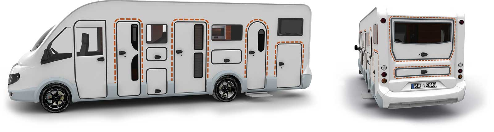 Satisfied tegos customers with Giottiline caravans and RVs